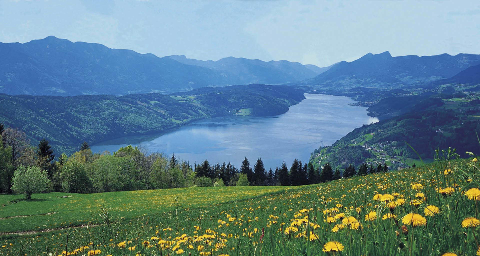 Landschaftsbild-Millstätter-See
